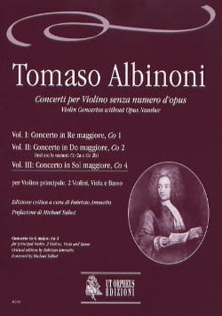 Tomaso Albinoni - Concerto In Sol Maj. Co4 Vol.III - Sheet Music - di-arezzo.co.uk