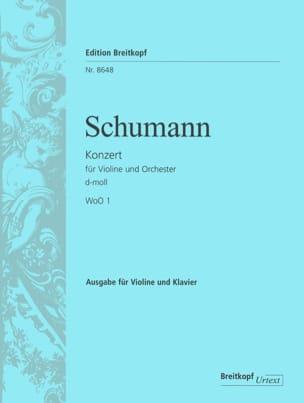 SCHUMANN - Concerto En Ré Min. WoO1 - Partition - di-arezzo.fr