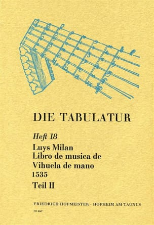 Luis Milan - Libro of Musica de Vihuela by Mano 1535 - Book 18 - Vol.II - Sheet Music - di-arezzo.co.uk