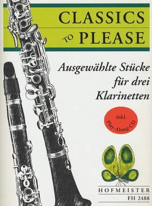 Classics To Please - 3 Clarinettes - Partition - laflutedepan.com