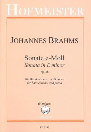Sonate en Mi Mineur Op. 38 BRAHMS Partition Clarinette - laflutedepan
