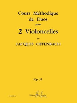 Jacques Offenbach - Cellos Duets Course Op 53 Books 1.2 and 3 - Sheet Music - di-arezzo.com