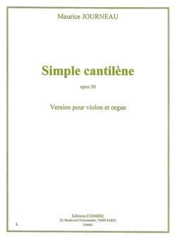 Simple Cantilène Op.50 - Maurice Journeau - laflutedepan.com