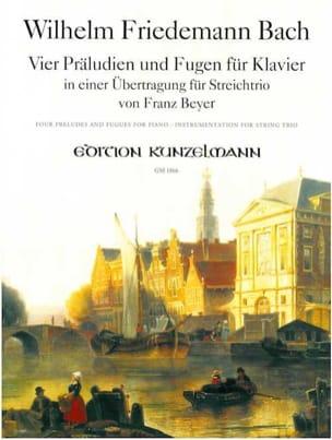 4 Préludes et Fugues - Wilhelm Friedemann Bach - laflutedepan.com