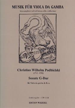 Christian Wilhelm Podbielski - Sonata Sol Maj. - Sheet Music - di-arezzo.com