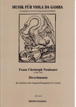 Divertimento Franz Christoph Neubauer Partition laflutedepan