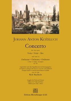 Leopold Anton Kozeluch - Concerto En Do Maj. Op. 110 - Partition - di-arezzo.fr