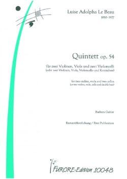 Quintette Op.54 Beau Louise Adolpha Le Partition laflutedepan