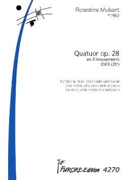 Quatuor Op.28 En 3 Mouvements (2003) - laflutedepan.com