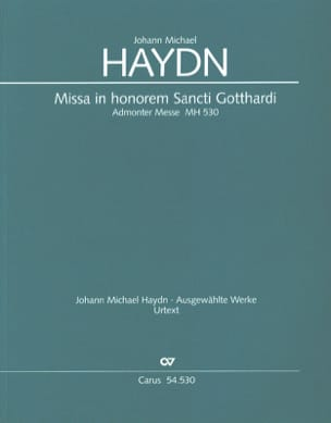 Michael Haydn - Missa In Honorem Sancti Gotthardi - Mh530 - Partition - di-arezzo.fr