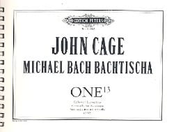 John And Michael Bach Bachtischa Cage - One 13 1992 - Partition - di-arezzo.fr