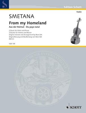 Bedrich Smetana - Du Pays Natal - Partition - di-arezzo.fr