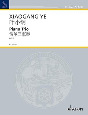Xiaogang Ye - Trio Avec Piano Op. 59 - Partition - di-arezzo.fr