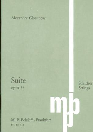 Alexandre Glazounov - Suite En Do Maj. Op.35 - Partition - di-arezzo.fr