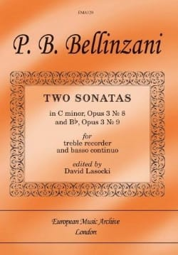 Paolo Benedetto Bellinzani - 2 Sonatas Op.3 N ° 8 In Ut Min. - Op.3 N ° 9 In Bb - Sheet Music - di-arezzo.com