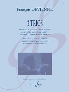 François Devienne - 3 Trios - 1ère Suite en Sol Majeur - Partition - di-arezzo.fr