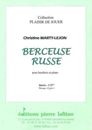 Christine Marty-Lejon - Berceuse Russe - Hautbois/Piano - Partition - di-arezzo.fr