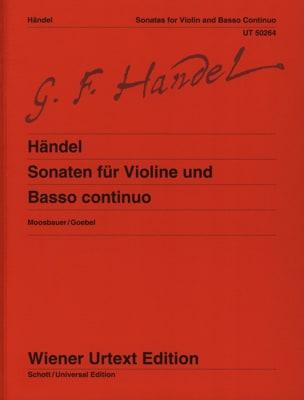 Sonates Pour Violon et Basse Continue - HAENDEL - laflutedepan.com