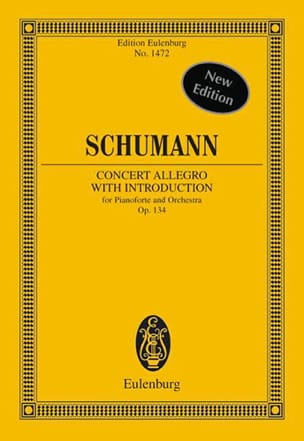 SCHUMANN - Concerto Allegro With Introduction Op.134 - Sheet Music - di-arezzo.co.uk