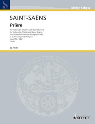 Camille Saint-Saëns - Prière en Sol Majeur Op. 158 /158 Bis - Partition - di-arezzo.fr
