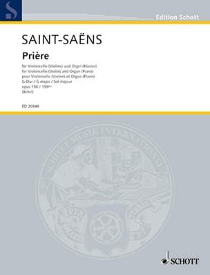 Camille Saint-Saëns - Prayer in G Major Op. 158/158 Bis - Sheet Music - di-arezzo.co.uk