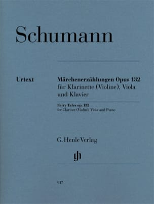 SCHUMANN - Märchenerzählungen Op. 132 - Sheet Music - di-arezzo.co.uk