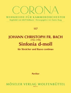 Johann Christoph Friedrich Bach - Sinfonia d-moll - Partition - di-arezzo.fr