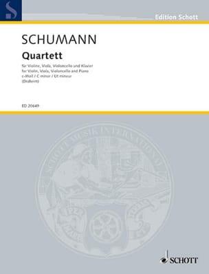 SCHUMANN - C minor quartet - Sheet Music - di-arezzo.com