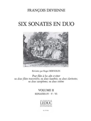 François Devienne - 6 Duo Sonatas Volume 2 - 2 Recorders - Sheet Music - di-arezzo.com