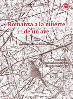 Graciane Finzi - Romanza A la Muerte de un Ave - Partition - di-arezzo.fr