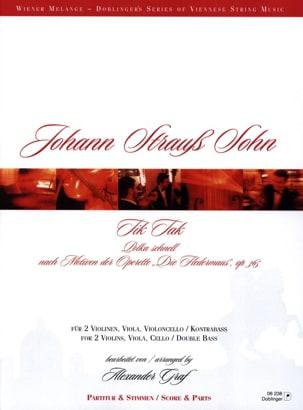 Tik Tak - Johann (Fils) Strauss - Partition - laflutedepan.com