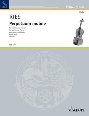 Perpetuum Mobile Op.34 N°5 Franz Ries Partition Violon - laflutedepan