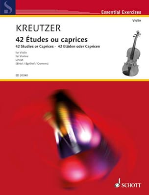 Rodolphe Kreutzer - 42 Studies or Caprices - Partition - di-arezzo.com