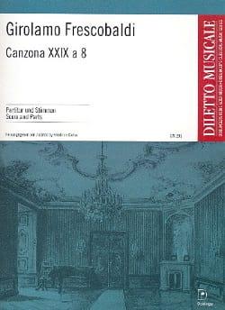 Girolamo Frescobaldi - Canzona Xxix A 8 - Partition - di-arezzo.fr