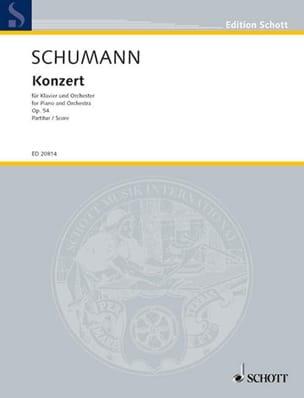 SCHUMANN - Concerto Op.54 - Conducteur - Partition - di-arezzo.fr