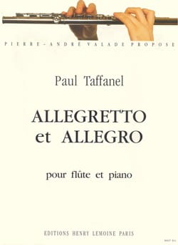 Paul Taffanel - Allegretto and Allegro - Sheet Music - di-arezzo.com