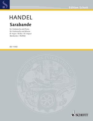 Sarabande HAENDEL Partition Violoncelle - laflutedepan