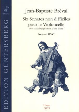 6 Sonates Non Difficiles Pour le Violoncelle Op.40 - Sonates 4 A 6 - laflutedepan.com