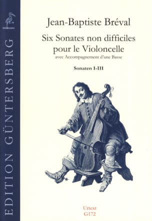 Jean-Baptiste Bréval - 6 Sonatas No Difficult For The Cello Op.40 - Sonatas 1 To 3 - Sheet Music - di-arezzo.com
