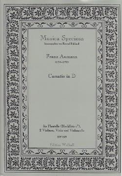 Franz Aumann - Cassatio In D - Partition - di-arezzo.fr