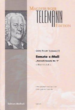 TELEMANN - Sonate Do Min. - Harrach Sonate N°1 - Partition - di-arezzo.fr