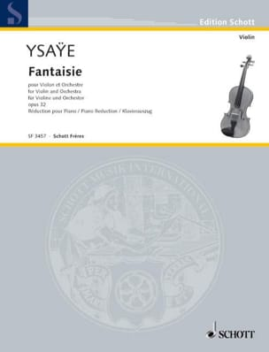 Fantaisie Opus 32 - Eugène Ysaÿe - Partition - laflutedepan.com
