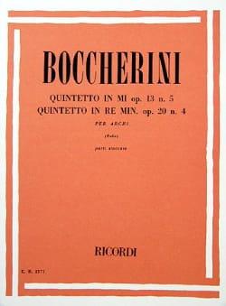 6 Quintetti Volume 1 Op.13 N°5 et Op.20 N°4 BOCCHERINI laflutedepan