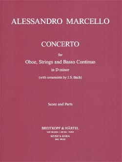 Alessandro Marcello - Concerto D-Moll - Score And Parts - Partition - di-arezzo.fr