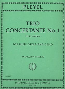 Trio Concertant N°1 En Sol Maj. - Ignaz Pleyel - laflutedepan.com
