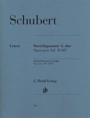 SCHUBERT - Quatuor A Cordes en Sol Majeur Op. Post. 161 D 887 - Partition - di-arezzo.fr