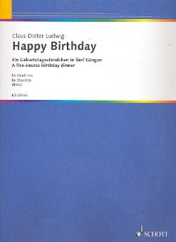 Happy Birthday Claus-Dieter Ludwig Partition laflutedepan