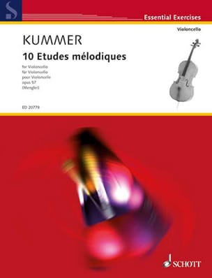 Friedrich-August Kummer - 10 Melodic Studies Op. 57 - Sheet Music - di-arezzo.com