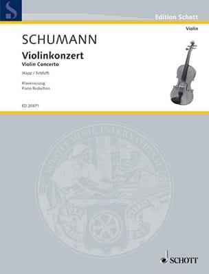 Concerto en Ré Min. W0o1 - SCHUMANN - Partition - laflutedepan.com