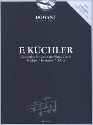 Ferdinand Küchler - Concertino En Sol Maj. Op.11 - Partition - di-arezzo.fr